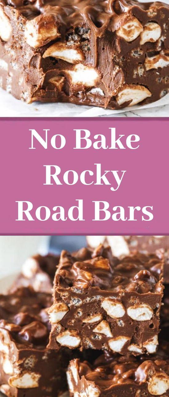 No Bake Rocky Road Bars