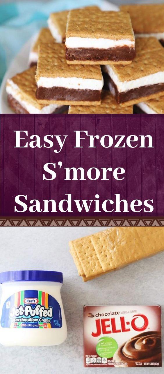 Easy Frozen S'more Sandwiches