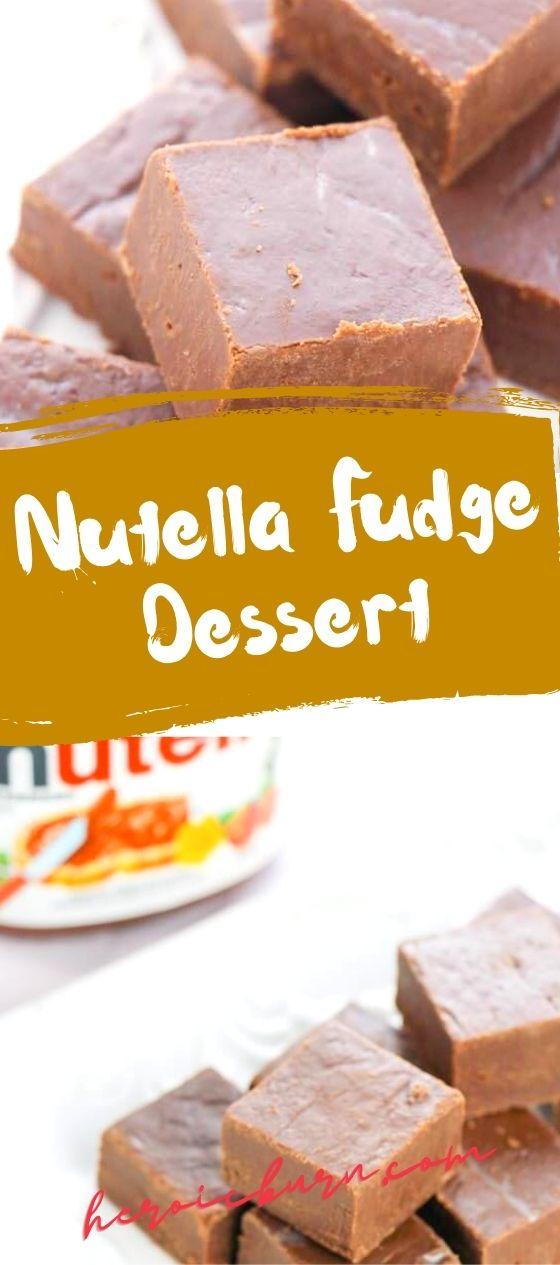 Nutella Fudge Dessert